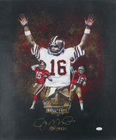 "Joe Montana Signed 49ers 20x24 Print On Canvas Inscribed ""HOF 2000"" (JSA Hologram) at PristineAuction.com"