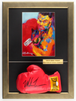 Mike Tyson Signed Everlast 16.5x22.5 Custom Framed Boxing Glove Display With Leroy Neiman Print (PSA COA) at PristineAuction.com