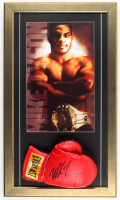 Mike Tyson Signed Everlast 16.5x28.5 Custom Framed Boxing Glove Display (PSA COA) at PristineAuction.com
