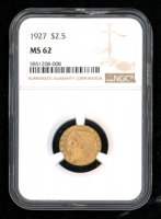 1927 $2.50 Indian Head Gold Coin (NGC MS62) at PristineAuction.com