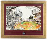 "Leroy Neiman ""Sandy Koufax 1963 World Series"" 18.5x22.5 Custom Framed Print Display WIth 1963 World Series Pin at PristineAuction.com"
