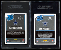 Lot of (2) SGC Graded Dak Prescott 2016 Donruss Football Cards Optic Pink Prizm #162 Rated Rookie RC (SGC 9) & #362 Rated Rookie RC (SGC 10) at PristineAuction.com
