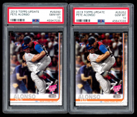 Lot of (2) Pete Alonso 2019 Topps Update #US262 Home-Run Derby (PSA 10) at PristineAuction.com