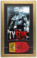 Mike Tyson Signed Everlast 16.5x26.5 Custom Framed Boxing Glove Display (PSA COA) at PristineAuction.com