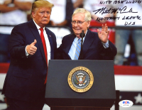 """Mitch McConnell Signed 8x10 Photo Inscribed """"With Best Wishes' & """"Majority Leader USS"""" (PSA Hologram) at PristineAuction.com"""