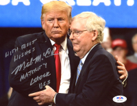 "Mitch McConnell Signed 8x10 Photo Inscribed ""With Best Wishes' & ""Majority Leader USS"" (PSA Hologram) at PristineAuction.com"