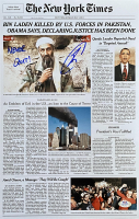 "U.S. Navy Seal Robert J. O'Neill Signed Osama Bin Laden 11x17 New York Times Newspaper Cover Photo Inscribed ""Never Quit!"" (PSA COA) at PristineAuction.com"