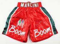 "Ray ""Boom Boom"" Mancini Signed Boxing Trunks (JSA COA) at PristineAuction.com"