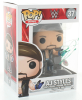 "Aj Styles Signed ""WWE"" #37 Funko Pop Vinyl Figure (PSA Hologram) at PristineAuction.com"
