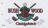 "Cindy Morgan & Michael O'Keefe Signed ""Caddyshack"" Bushwood Country Club Pin Flag Inscribed ""Noonan"" & ""Lacey"" (Schwartz Sports COA) at PristineAuction.com"