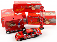 Set of (3) Dale Earnhardt 2000 #3 GM Goodwrench Service Plus  / Taz/No Bull Die-Cast Racing Model Items with LE Monte Carlo 1:24 Scale Car, 1:16 Scale LE Pit Wagon Coin Bank, & 1:16 Scale LE Gas Pump Coin Bank at PristineAuction.com