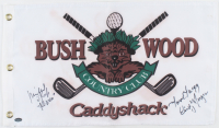 """Cindy Morgan & Michael O'Keefe Signed """"Caddyshack"""" Bushwood Country Club Pin Flag Inscribed """"Noonan"""" & """"Lacey"""" (Schwartz Sports COA) at PristineAuction.com"""