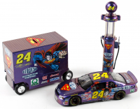 Set of (3) Jeff Gordon 1999 #24 Dupont / Superman Die-Cast Racing Model Items with LE Monte Carlo Elite 1:24 Scale Car, 1:16 Scale LE Pit Wagon Coin Bank, & 1:16 Scale LE Gas Pump Coin Bank at PristineAuction.com