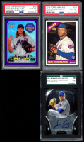 Lot of (3) Graded 10 Noah Syndergaard Baseball Cards with 2013 Bowman Sterling Prospect Autographs #NS (SGC), 2018 Topps Heritage Chrome Purple Refractors #THC90 (PSA) & 2015 Topps Heritage #618A RC (PSA) at PristineAuction.com