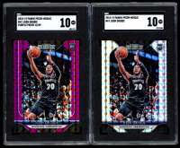 Lot of (2) SGC Graded 10 Josh Okogie 2018-19 Panini Prizm Mosaic Basketball Cards with #47 RC & Purple #47 RC at PristineAuction.com