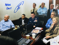 "U.S. Navy Seal Robert J. O'Neill Signed Osama Bin Laden Live Killing 11x14 ""White House Situation Room"" Photo Inscribed ""Never Quit!"" (PSA COA) at PristineAuction.com"