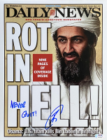 "U.S. Navy Seal Robert O'Neill Signed Osama Bin Laden 11x14 New York Daily News Cover Photo Inscribed ""Never Quit!"" (PSA COA) at PristineAuction.com"
