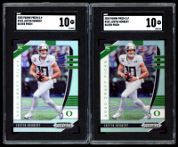 Lot of (2) SGC Graded 10 Justin Herbert Football Cards with 2020 Panini Prizm Draft Picks Prizms Silver #102 at PristineAuction.com