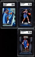 Lot of (3) SGC Graded RJ Barrett 2019-20 Panini Prizm Basketball Cards with Instant Impact Prizms Silver #22 (SGC 10), Draft Picks #66 (SGC 9.5) & #250 (SGC 9.5) at PristineAuction.com