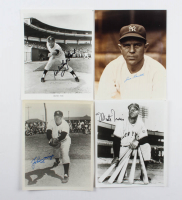 Lot of (4) Signed Baseball 8x10s With Whitey Ford, Joe Sewell, Monte Irvin & Johnny Mize (JSA ALOA) at PristineAuction.com