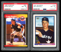 Lot of (2) Graded Baseball Cards with Craig Biggio 1989 Donruss #561 DP RC (PSA 8) & Jeff Bagwell  1991 Bowman #183 RC (PSA 8) at PristineAuction.com
