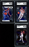 Lot of (3) SGC Graded 9.5 RJ Barrett Basketball Cards with 2019-20 Select #21 RC, 2019-20 Panini Mosaic #229 RC & #270 RC at PristineAuction.com