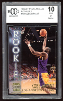 Kobe Bryant 1996-97 Stadium Club Members Only Parallel II #R9 (BCCG 10) at PristineAuction.com