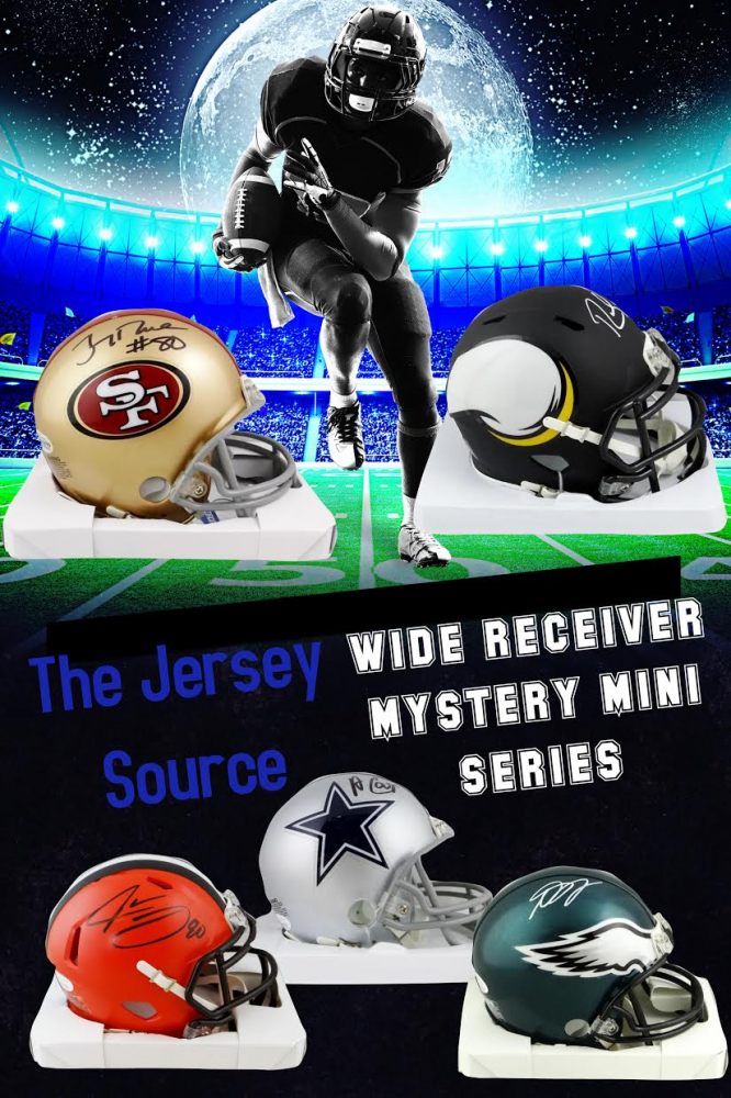 The Jersey Source Wide Receivers Mini Helmet Mystery Box - Series WRM1 at PristineAuction.com