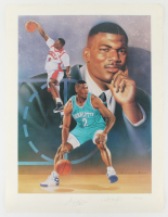 Larry Johnson Signed Hornets LE 20x26.5 Print (JSA ALOA) at PristineAuction.com