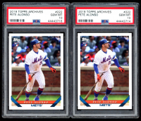 Lot of (2) Pete Alonso 2019 Topps Archives #222 RC (PSA 10) at PristineAuction.com