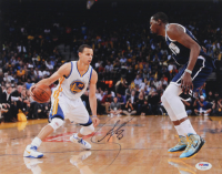 Stephen Curry Signed Warriors 11x14 Photo (PSA Hologram) at PristineAuction.com