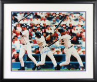 Derek Jeter Signed Yankees 21.5x25.5 Custom Framed Photo (Steiner COA) at PristineAuction.com
