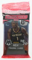 2019-20 Panini Mosaic Basketball Cello Pack of (15) Cards at PristineAuction.com