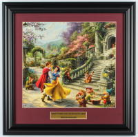 "Thomas Kinkade Walt Disney's ""Snow White and the Seven Dwarfs"" 16.5x16.5 Custom Framed Print Display at PristineAuction.com"