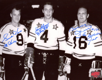 """Gordie Howe, Jean Beliveau & Bobby Hull Signed All-Star Game 8x10 Photo Inscribed """"Mr. Hockey"""", """"Le Grand Bill"""" & """"The Golden Jet"""" (YSMS COA) at PristineAuction.com"""
