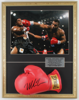 Mike Tyson Signed Everlast 17.5x22.5 Custom Framed Boxing Glove Display (PSA COA) at PristineAuction.com