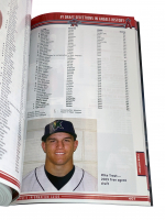 "Mike Trout Signed 2010 LA Angels Team Issued Information Book Inscribed ""25th Pick Class of 2009"" (MLB Hologram) at PristineAuction.com"