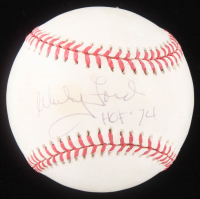 "Whitey Ford Signed OAL Baseball Inscribed ""HOF '74 (JSA COA) at PristineAuction.com"
