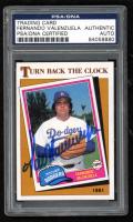Fernando Valenzuela Signed 1986 Topps #401 TBC '81 Baseball Card (PSA Encapsulated) at PristineAuction.com