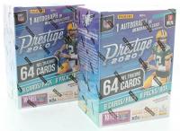 Lot of (2) 2020 Panini Prestige Football Blaster Box of (64) Cards at PristineAuction.com