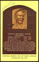 Satchel Paige Signed Gold Hall of Fame Plaque Postcard (JSA ALOA) at PristineAuction.com