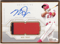 Mike Trout 2020 Topps Definitive Collection Framed Autograph Patches #FACMT at PristineAuction.com