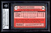 Deion Sanders Signed 1989 Topps Traded #110T RC (BGS Encapsulated) at PristineAuction.com