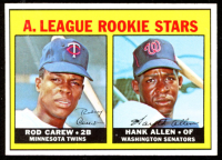 Rod Carew / Hank Alle 1967 Topps #569 Rookie Stars RC DP at PristineAuction.com
