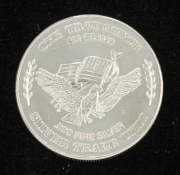 Eagle With Flag Head .999 One Troy Ounce Fine Silver Bullion Round at PristineAuction.com