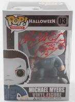 "James Jude Courtney Signed ""Halloween"" #03 Michael Myers Funko Pop! Vinyl Figure Inscribed ""The Shape 18"" (Radtke COA) at PristineAuction.com"
