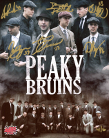 """""""Peaky Bruins"""" LE 8x10 Photo Signed by (5) With Zdeno Chara, Patrice Bergerson, Brad Marchand, Tuukka Rask & David Pastrnak (YSMS COA) at PristineAuction.com"""