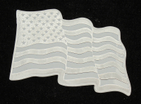"1 Troy Oz. 999 Fine Silver Sunshine Minting ""Wavy Flag"" Bullion Bar at PristineAuction.com"