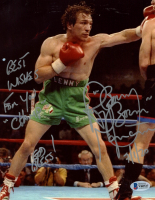 "Ray ""Boom Boom"" Mancini Signed 8x10 Photo Inscribed ""Best of Wishes For You Champ"", ""God Bless!"" & ""7/1/20"" (Beckett COA) at PristineAuction.com"