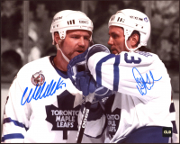 Doug Gilmour & Wendel Clark Signed Maple Leafs 8x10 Photo (COJO COA) at PristineAuction.com
